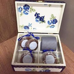 👰💏Nossos clientes _mifadini e Pedro Paiva prepararam essa linda caixa para #Prestigiar as madrinha