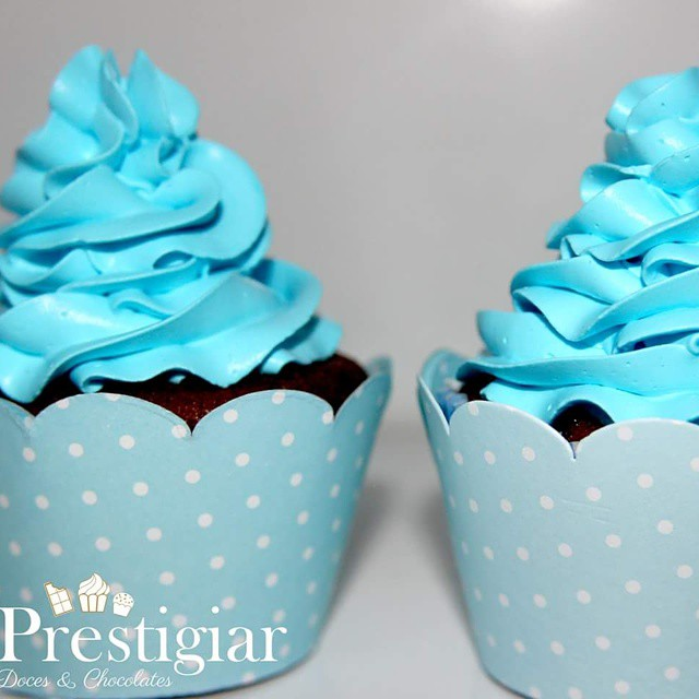 Cupcakes para o chá de bebê do Gabriel #Prestigiar #cupcakes #chadebebe #gabriel #bebe #baby