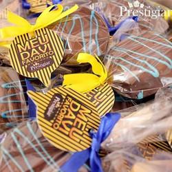 Alfajor para Prestigiar os convidados da festa do Davi #Prestigiar #alfajor #chocolate