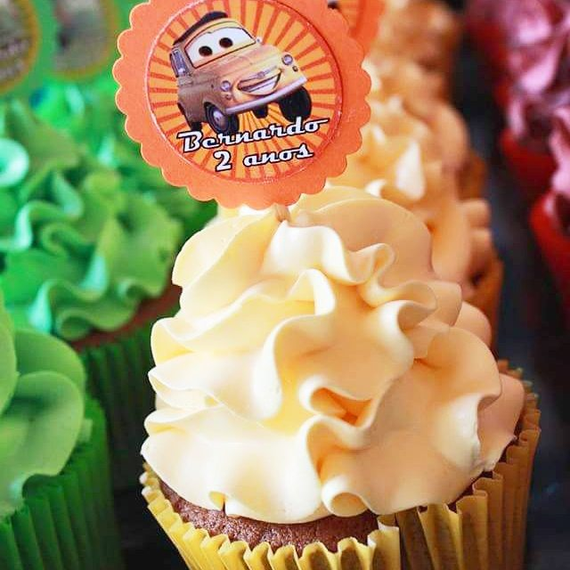 Cupcakes temáticos Carros #Luigi