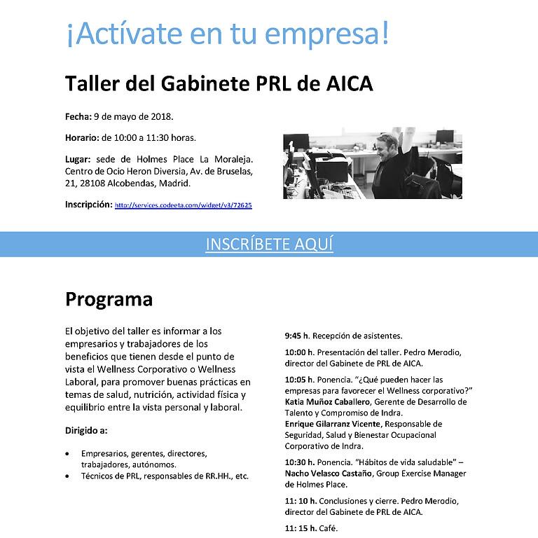"Taller de PRL: ""Wellness corporativo, ¡Actívate en tu empresa!"""