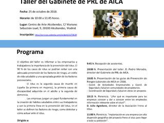 Taller PRL - El ictus en el entorno laboral: cómo prevenir y cómo actuar