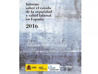 El INSSBT publica el 'Informe sobre el estado de la seguridad y salud laboral en España 2016'