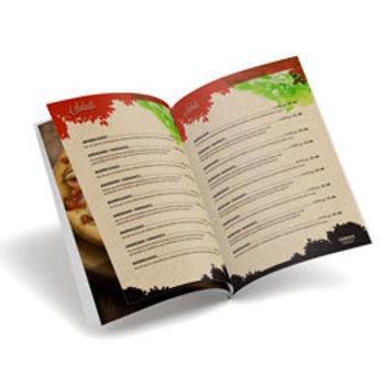 Cardápio Reciclato 240g - Laminação Fosca 8 páginas