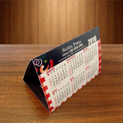Calendário de Mesa Postal Couchê 250g - Com Verniz