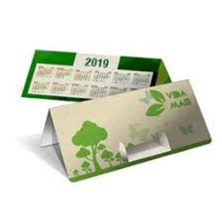 Calendário de Mesa Porta Cartão Reciclato 240g