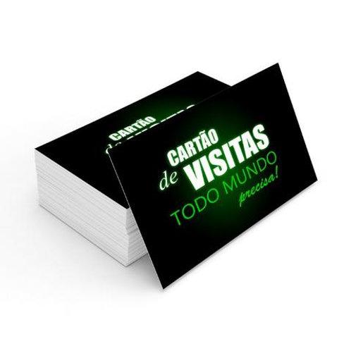Cartão de Visita 300g Verniz total Frente