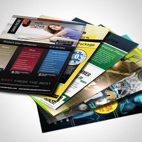 Panfletos, 10x15 Frente e Verso
