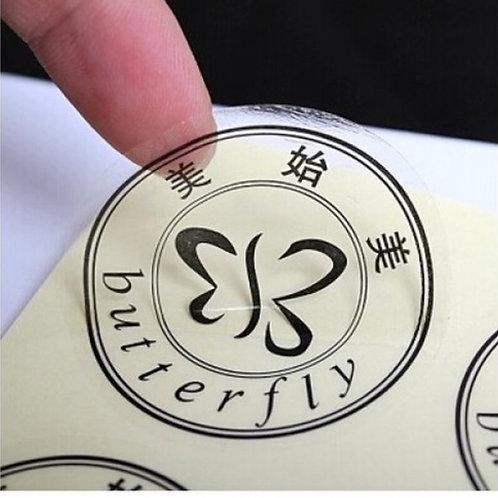 Adesivo Vinil Transparente com recorte 5x5 cm