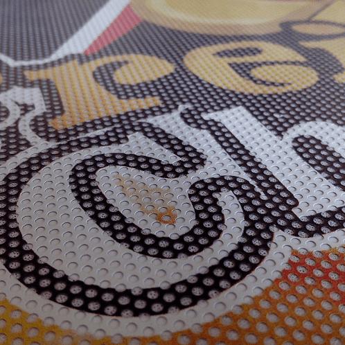 Adesivo Vinil Perfurado Impresso Metro²