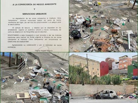El MDyC ha solicitado a la Consejería de M.Ambiente la limpieza urgente de la zona de Huerta Téllez