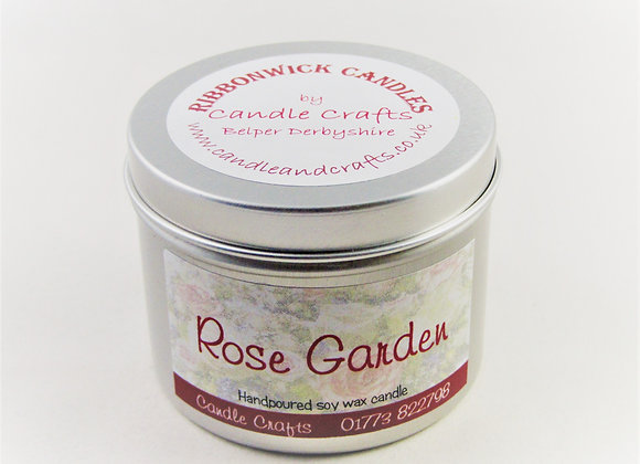 Rose garden candle by Candle Crafts Belper Derbyshire