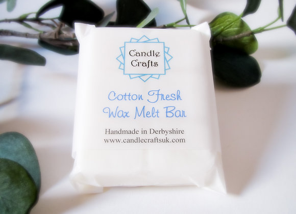 cotton fresh wax melts handmade in Derbyshire