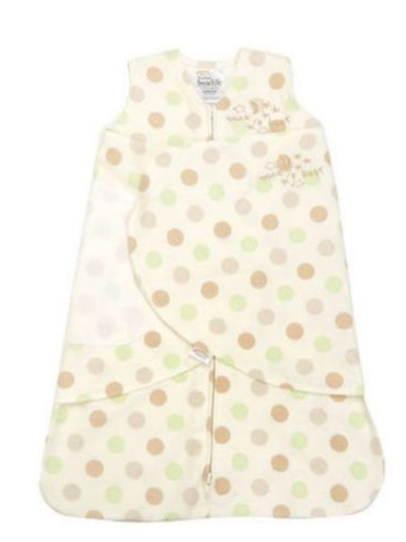 HALO Sleepsack Swaddle Small - Sage Polka dot