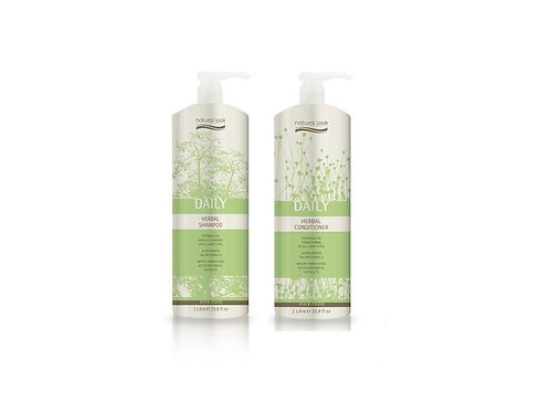Natural Look Daily Herbal Shampoo & Conditioner 1L
