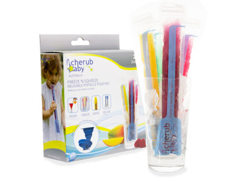 Reusable Freeze n Squeeze Ice Pop Pouches 20pk