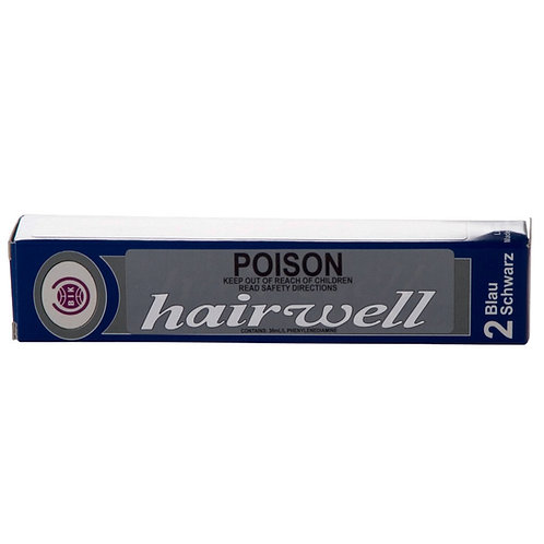 Hairwell Eyelash/Eyebrow Tint - 2 Blue Black