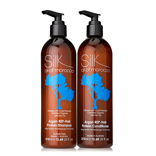 Silk Oil of Morocco REP-HAIR Shamp & Cond 375ml