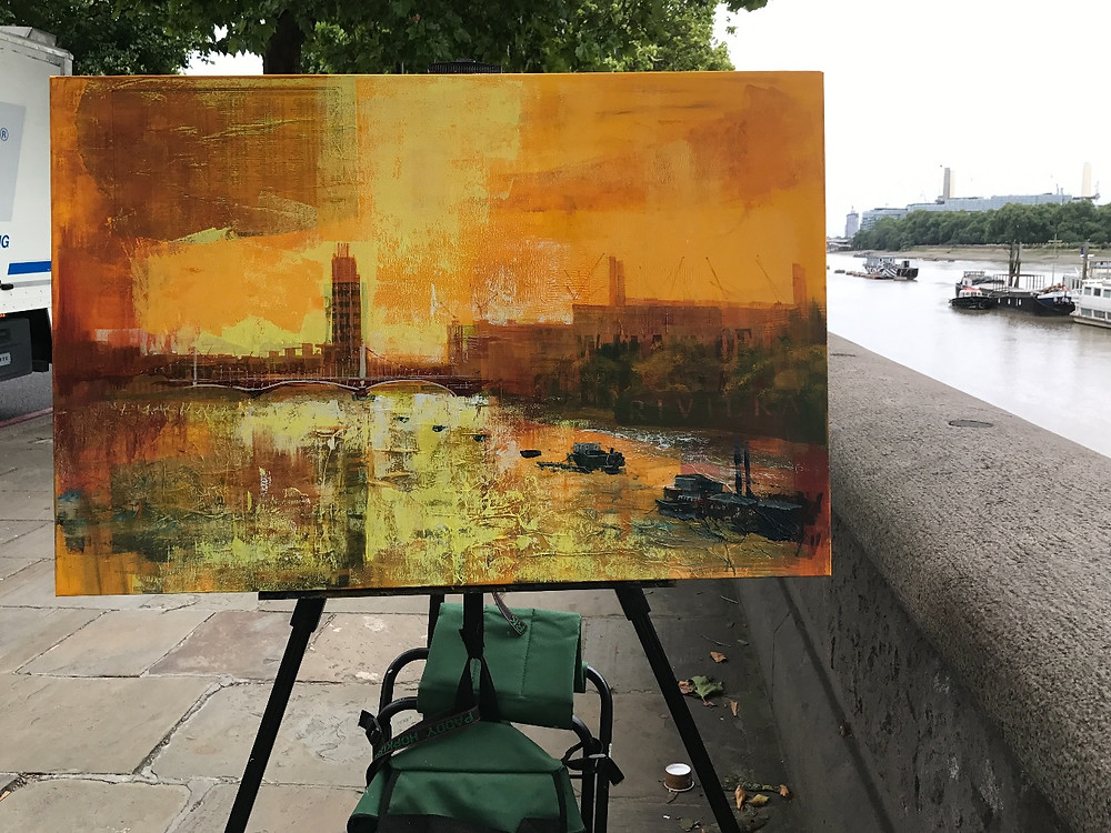 Chelsea Bridge painting