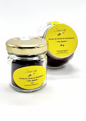 """Poudre de Vanille """"non épuisée""""  10 g à 250 g"""