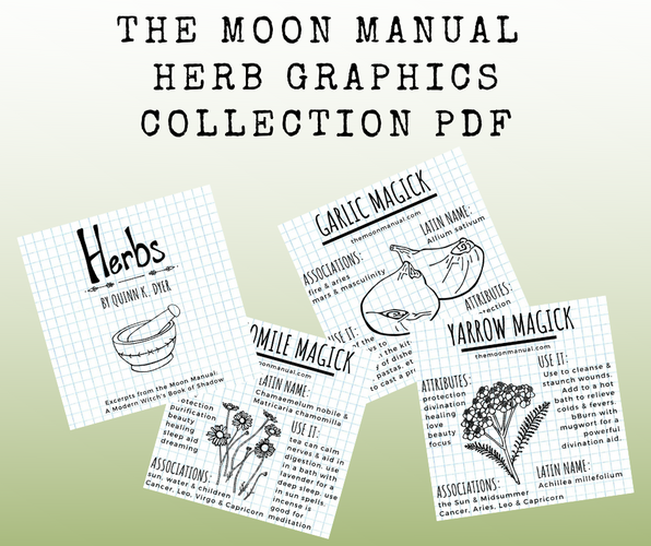 The Moon Manual Herb Graphics Collection PDF Downloads