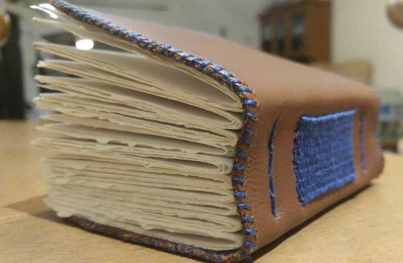 Custom Hand-bound Leather Book