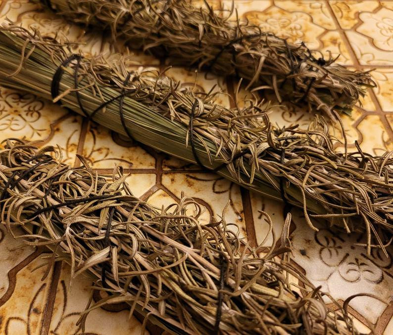 Giant Rosemary & Lemongrass Smudge Stick