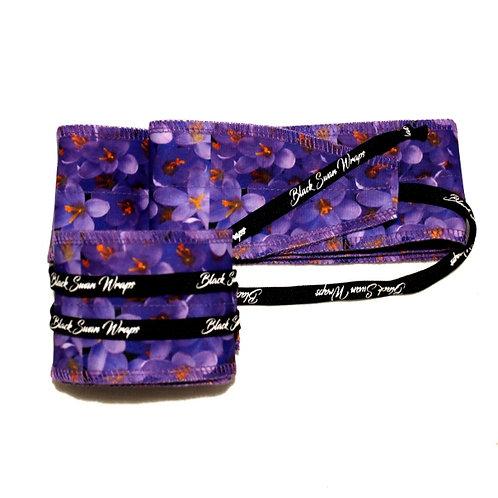 Wrap tissu Violettes