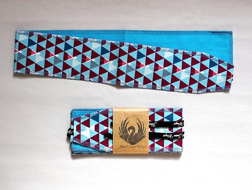 Wrap tissu Triangles Bleus