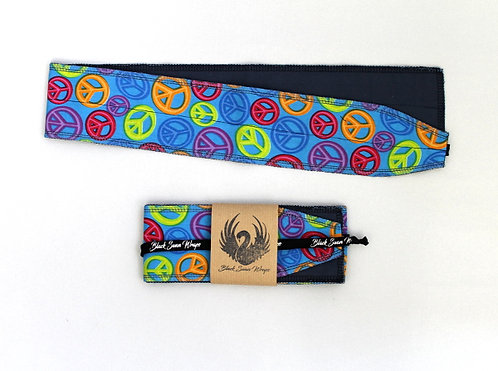 Wrap tissu peace and love