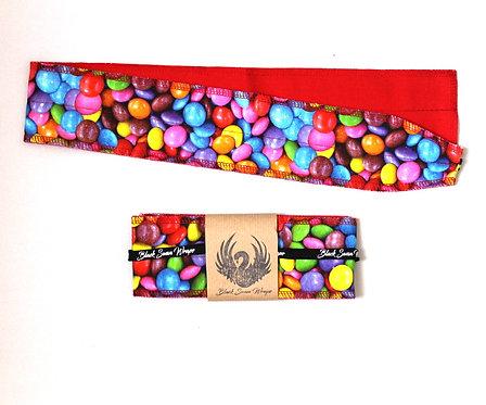 Wrap Tissu Bonbons fond Rouge