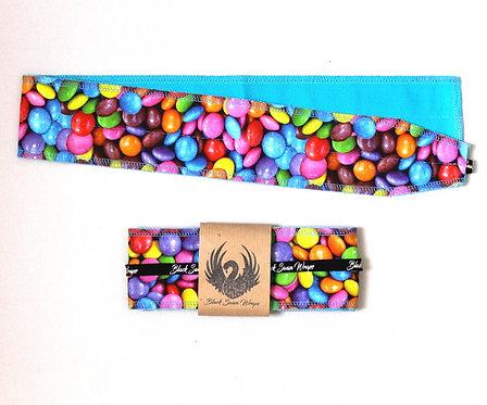Wrap Tissu Bonbons fond Turquoise