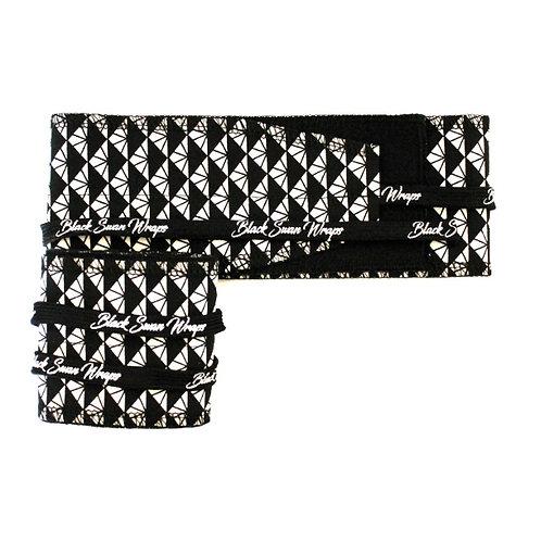 Wrap tissu Triangles Black and White