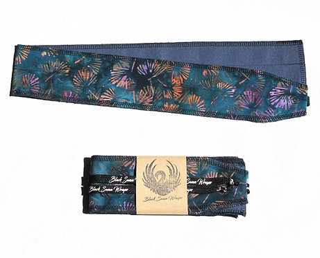 Wrap Tissu Batique Bleu