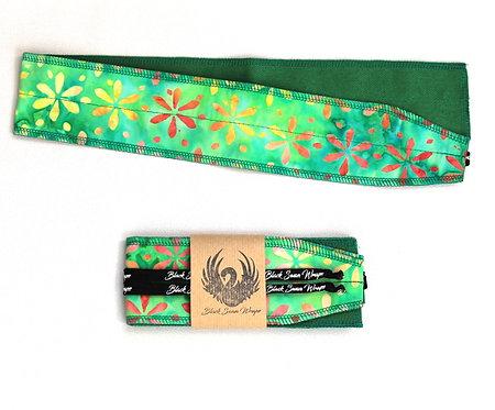 Wrap Tissu Batique Vert