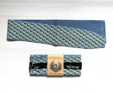 Wrap tissu Écailles vert / bleu