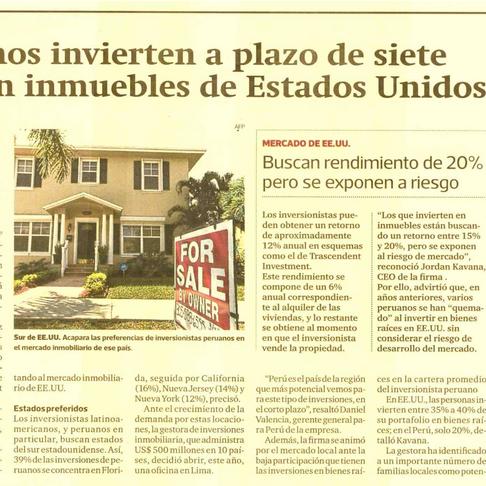 Transcendent Investment Management in Peruvian Press
