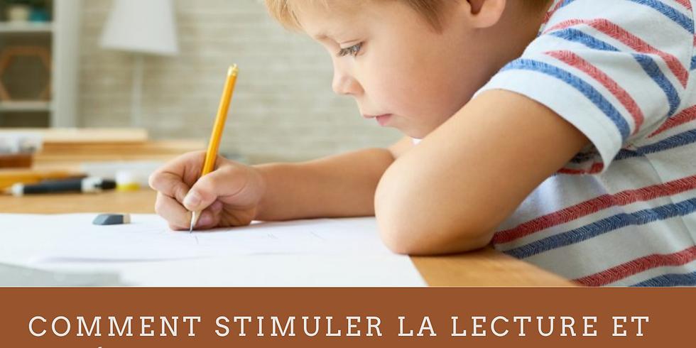 """Atelier """"Comment stimuler la lecture et l'écriture chez votre enfant"""""""