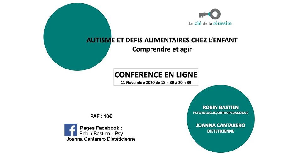 Conférence en ligne: Autisme et défis alimentaires chez l'enfant - Comprendre et agir