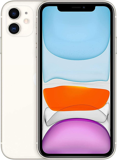 Apple iPhone 11 64GB - White - Unlocked (Renewed)
