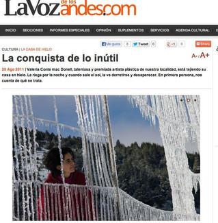 La ¨Conquista de lo inútil¨ en la Voz de los Andes