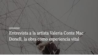 Entrevista a la artista Valeria Conte Mac Donell, la obra como experiencia vital