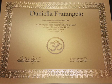 Now Certified in Yoga!