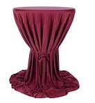 productfoto statafel met rood kleed