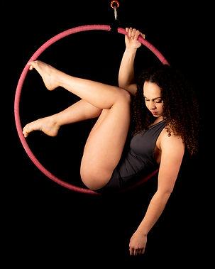 Lisa Maartens Aerial Hoop fotoshoot