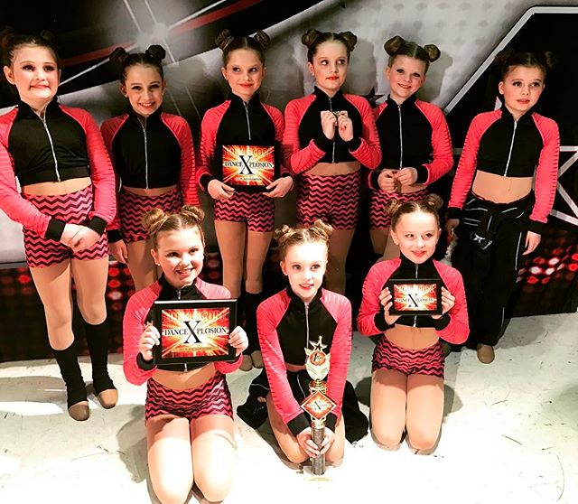 These little wonders brought home 1st place overall Junior Large Group Rising Stars division at _dan
