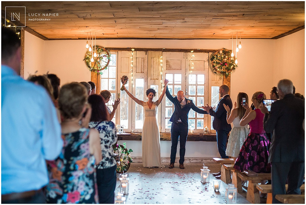 Tieing the Knot at Mobberley Owen house wedding Barn