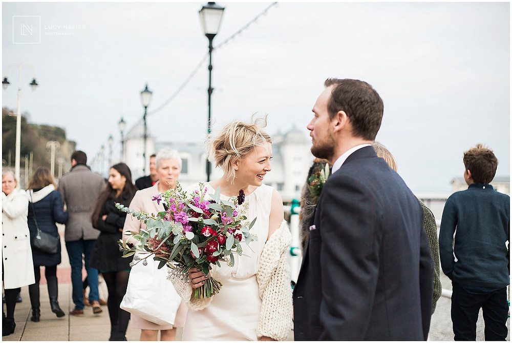 Penarth pier wedding