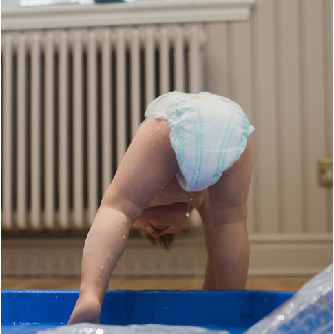 baby in a pool