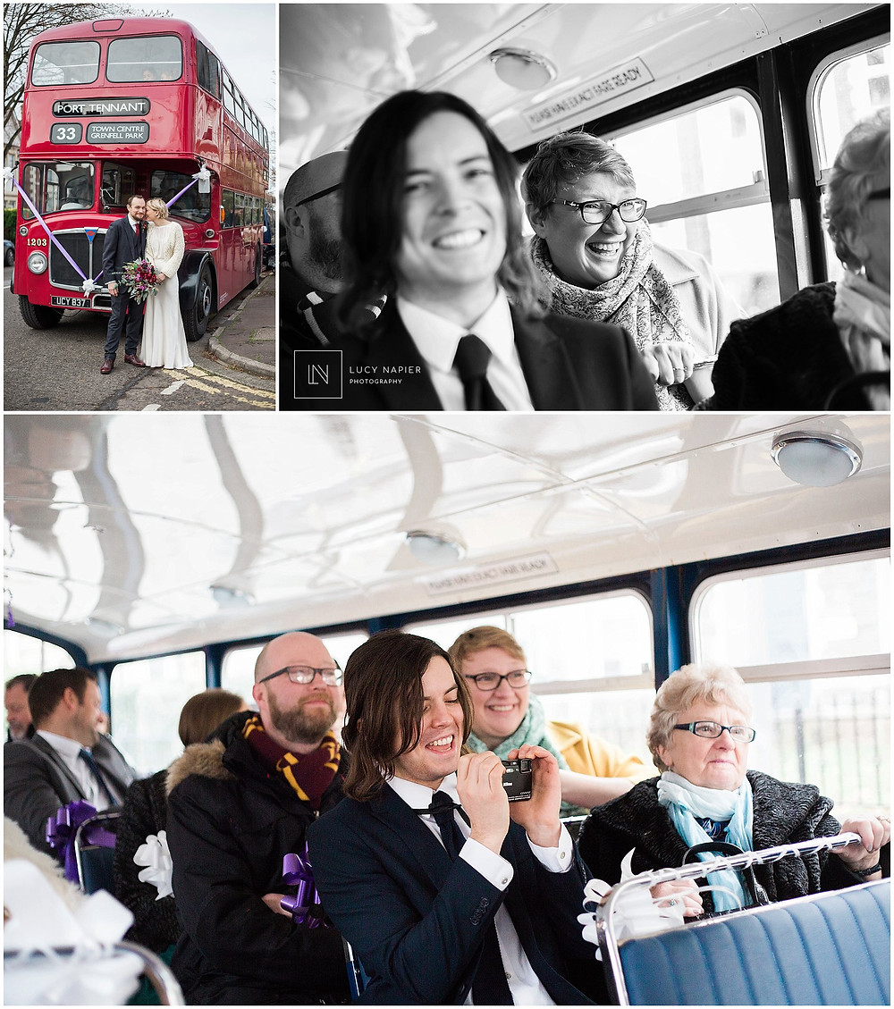 the guests on the london bus